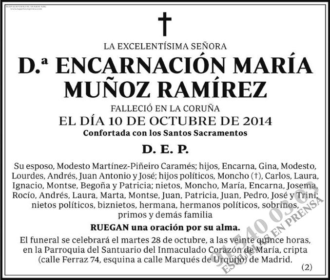 Encarnación María Muñoz Ramírez